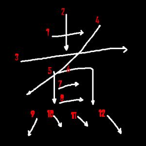 """Jouyou Kanji """"煮"""" Stroke Order"""