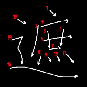 """Jouyou Kanji """"遮"""" Stroke Order"""