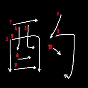 """Jouyou Kanji """"酌"""" Stroke Order"""