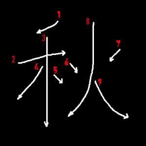 """Jouyou Kanji """"秋"""" Stroke Order"""