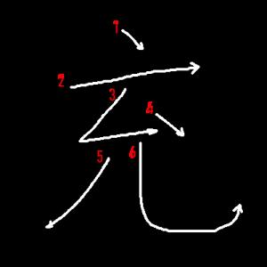 """Jouyou Kanji """"充"""" Stroke Order"""