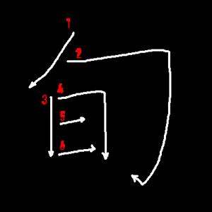"""Jouyou Kanji """"旬"""" Stroke Order"""