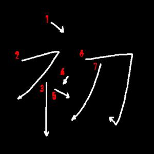 """Jouyou Kanji """"初"""" Stroke Order"""