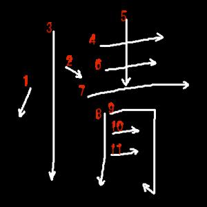 """Jouyou Kanji """"情"""" Stroke Order"""
