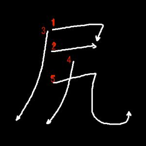 """Jouyou Kanji """"尻"""" Stroke Order"""
