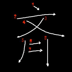 """Jouyou Kanji """"斉"""" Stroke Order"""
