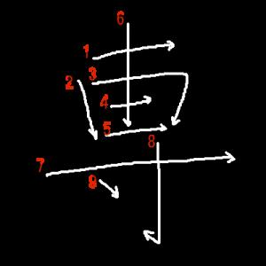 """Jouyou Kanji """"専"""" Stroke Order"""