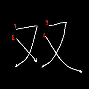 """Jouyou Kanji """"双"""" Stroke Order"""