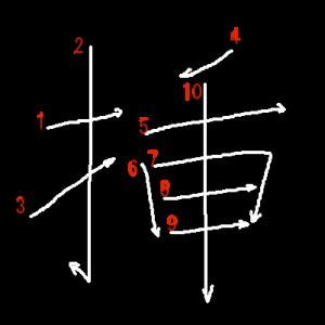 """Jouyou Kanji """"挿"""" Stroke Order"""
