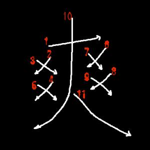 """Jouyou Kanji """"爽"""" Stroke Order"""