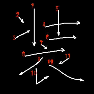 """Jouyou Kanji """"装"""" Stroke Order"""