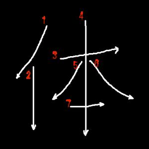 """Jouyou Kanji """"体"""" Stroke Order"""