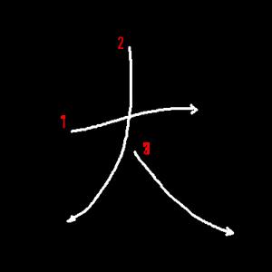 """Jouyou Kanji """"大"""" Stroke Order"""