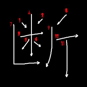 """Jouyou Kanji """"断"""" Stroke Order"""