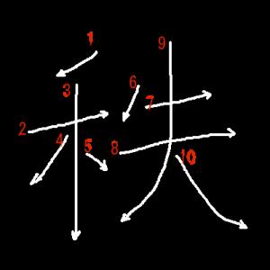 """Jouyou Kanji """"秩"""" Stroke Order"""