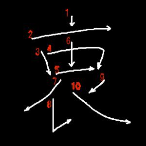 """Jouyou Kanji """"衷"""" Stroke Order"""