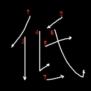 """Jouyou Kanji """"低"""" Stroke Order"""