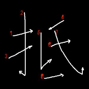 """Jouyou Kanji """"抵"""" Stroke Order"""