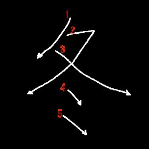 """Jouyou Kanji """"冬"""" Stroke Order"""