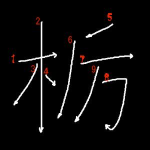 """Jouyou Kanji """"栃"""" Stroke Order"""