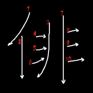 """Jouyou Kanji """"俳"""" Stroke Order"""