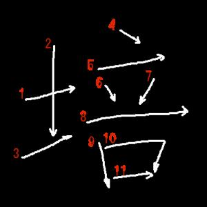 """Jouyou Kanji """"培"""" Stroke Order"""