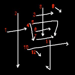 """Jouyou Kanji """"博"""" Stroke Order"""