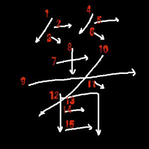 """Jouyou Kanji """"箸"""" Stroke Order"""