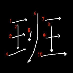 """Jouyou Kanji """"班"""" Stroke Order"""