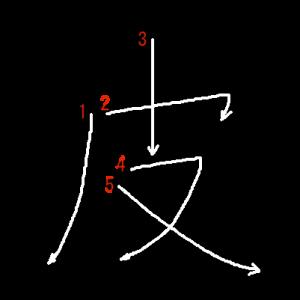 """Jouyou Kanji """"皮"""" Stroke Order"""