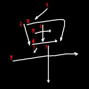 """Jouyou Kanji """"卑"""" Stroke Order"""
