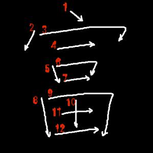 """Jouyou Kanji """"富"""" Stroke Order"""