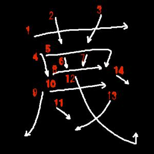 """Jouyou Kanji """"蔑"""" Stroke Order"""