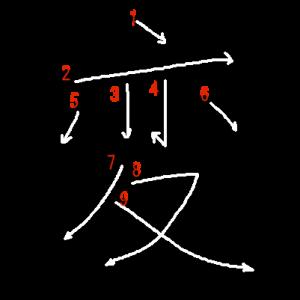 """Jouyou Kanji """"変"""" Stroke Order"""