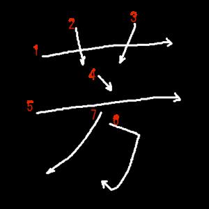 """Jouyou Kanji """"芳"""" Stroke Order"""