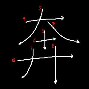 """Jouyou Kanji """"奔"""" Stroke Order"""