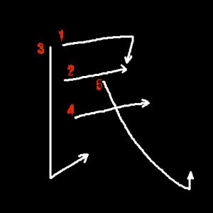 """Jouyou Kanji """"民"""" Stroke Order"""