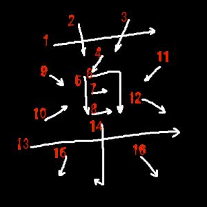 """Jouyou Kanji """"薬"""" Stroke Order"""