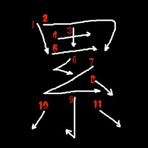 """Jouyou Kanji """"累"""" Stroke Order"""