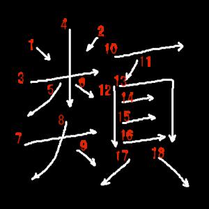 """Jouyou Kanji """"類"""" Stroke Order"""