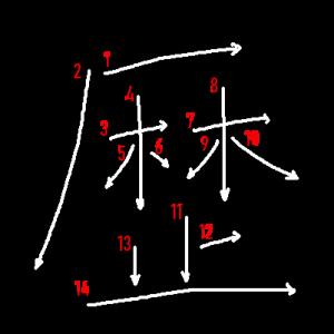 """Jouyou Kanji """"歴"""" Stroke Order"""