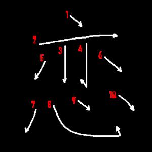 """Jouyou Kanji """"恋"""" Stroke Order"""