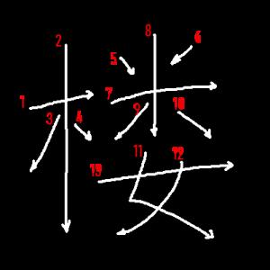 """Jouyou Kanji """"楼"""" Stroke Order"""