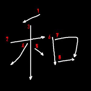 """Jouyou Kanji """"和"""" Stroke Order"""