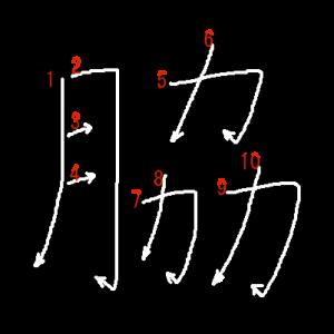 """Jouyou Kanji """"脇"""" Stroke Order"""