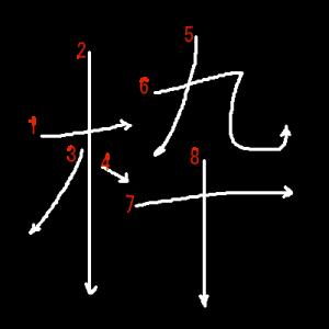 """Jouyou Kanji """"枠"""" Stroke Order"""